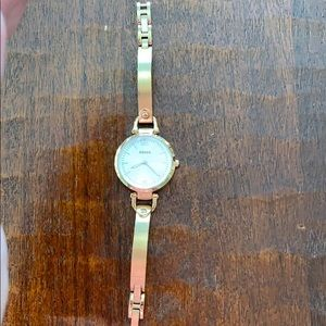 Fossil copper look watch